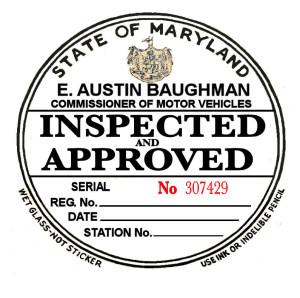 Agape Auto State Inspection Sticker