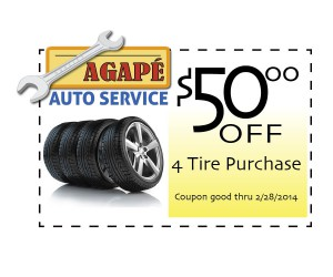 Tire discount coupon