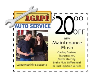 Maintainance flush  coupon