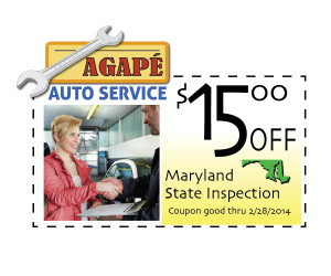 MD state Inspection Coupon